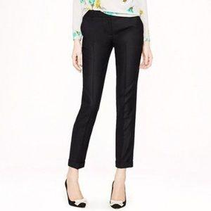 J. Crew Black Wool Cafe Capri Pants Size 0